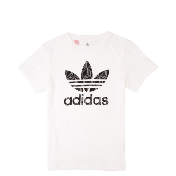 Main view of adidas Trefoil Tee - Little Kid / Big Kid - White