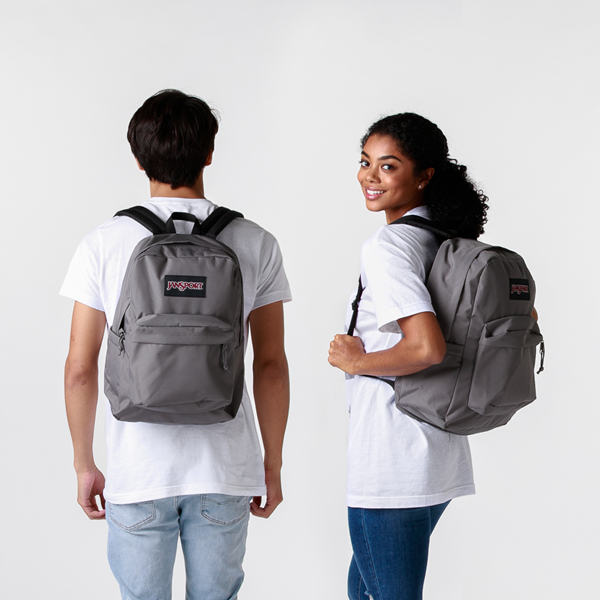 alternate view JanSport Superbreak Plus Backpack - GraphiteALT1BADULT