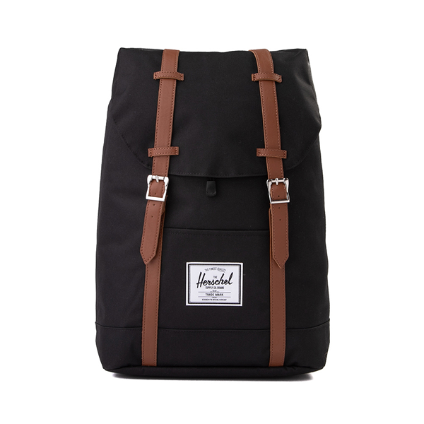 Main view of Herschel Supply Co. Retreat Backpack - Black / Saddle Brown