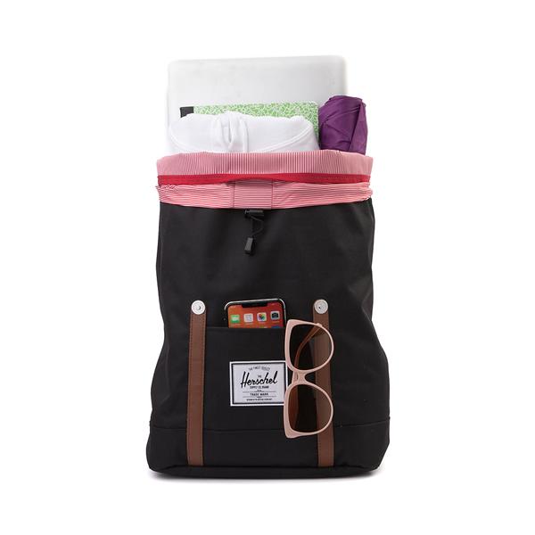 alternate view Herschel Supply Co. Retreat Backpack - Black / Saddle BrownALT1