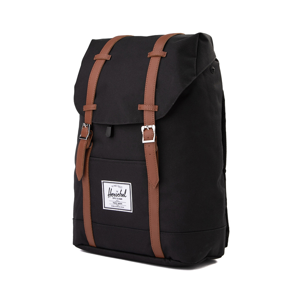 alternate view Herschel Supply Co. Retreat Backpack - Black / Saddle BrownALT4