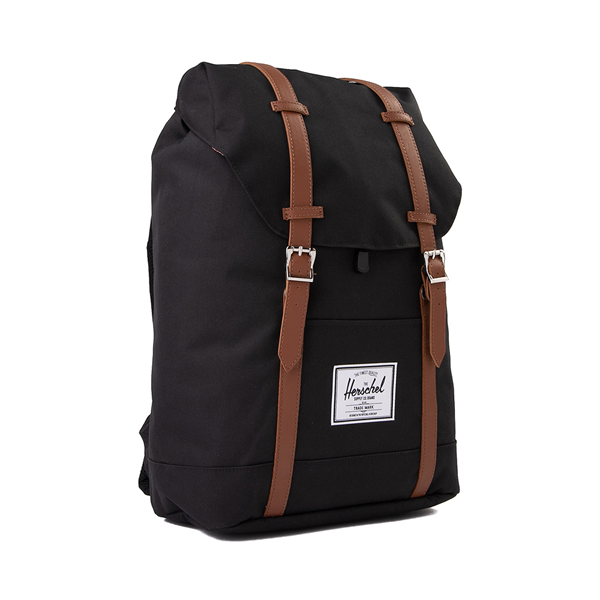 alternate view Herschel Supply Co. Retreat Backpack - Black / Saddle BrownALT4B