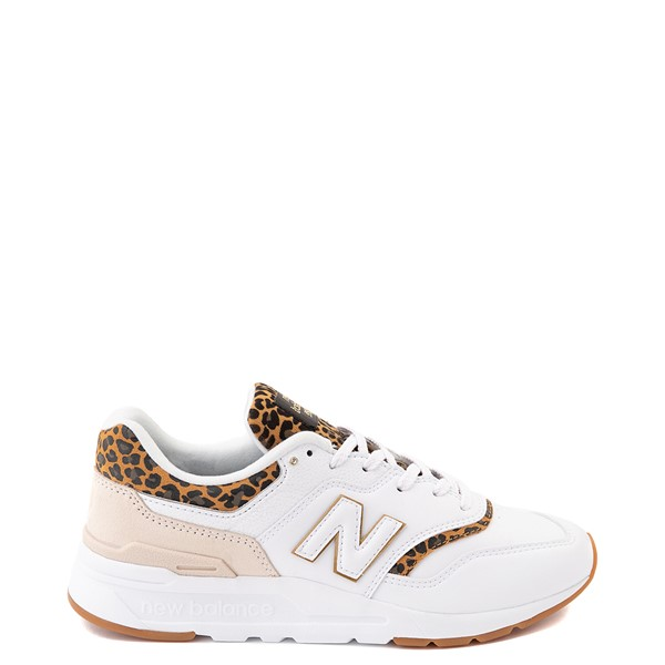 Main view of Womens New Balance 997H Athletic Shoe - White / Leopard