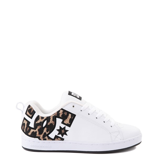 Womens DC Court Graffik Skate Shoe - White / Leopard