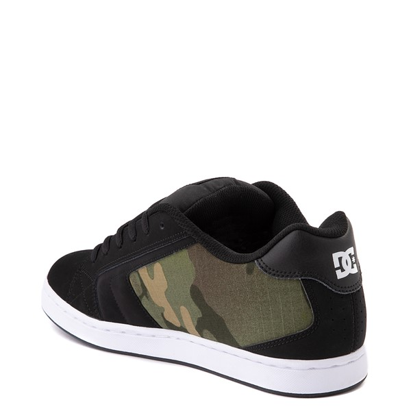 alternate view Mens DC Net SE Skate Shoe - Black / CamoALT1
