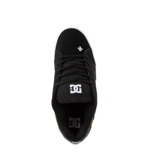 alternate view Mens DC Net SE Skate Shoe - Black / CamoALT2