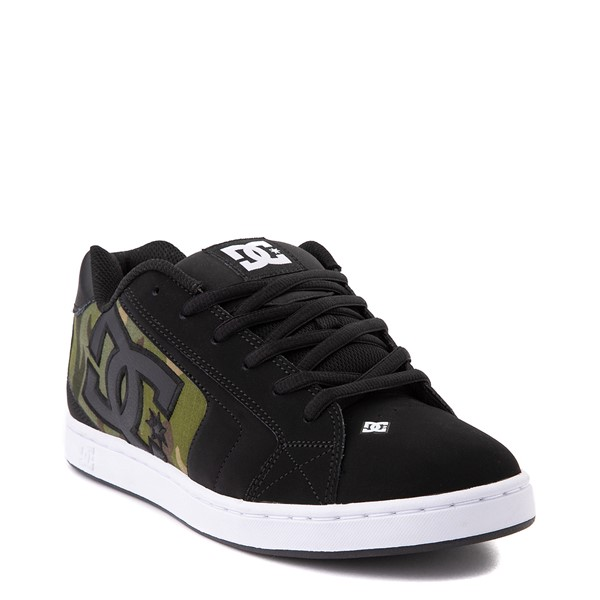 alternate view Mens DC Net SE Skate Shoe - Black / CamoALT5