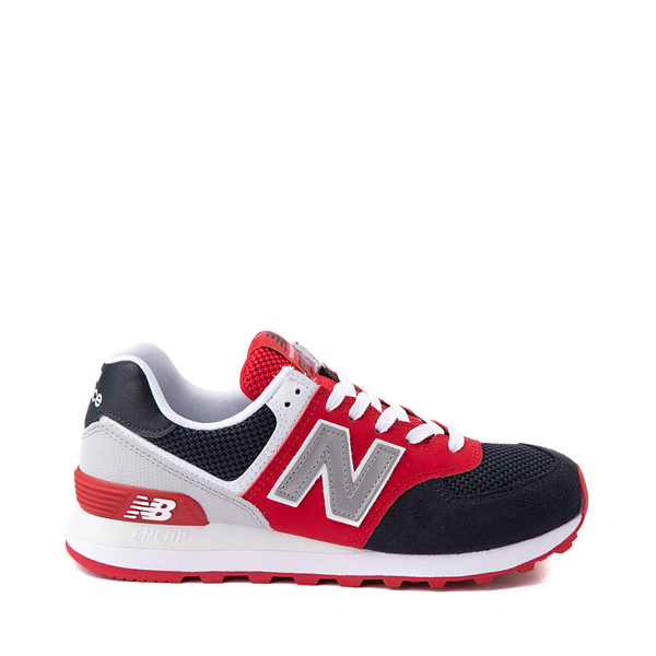 Main view of Womens New Balance 574 Athletic Shoe - Navy / Red / White