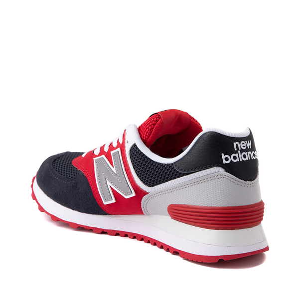 alternate view Womens New Balance 574 Athletic Shoe - Navy / Red / WhiteALT1