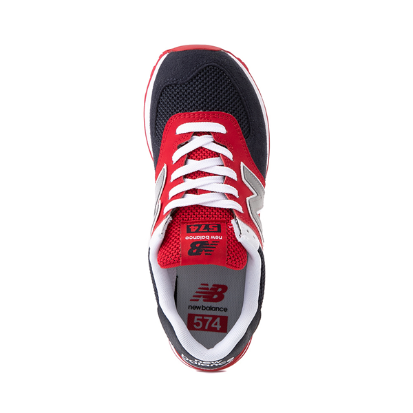 alternate view Womens New Balance 574 Athletic Shoe - Navy / Red / WhiteALT2