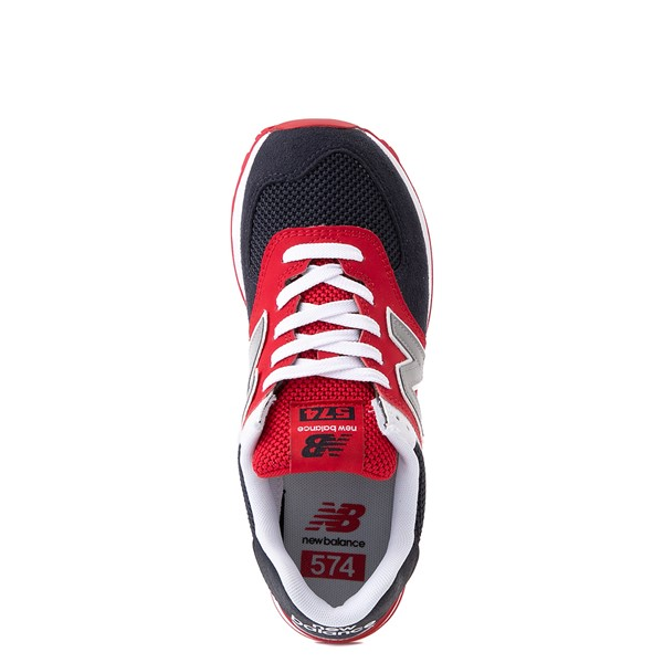 alternate view Womens New Balance 574 Athletic Shoe - Navy / Red / WhiteALT4B
