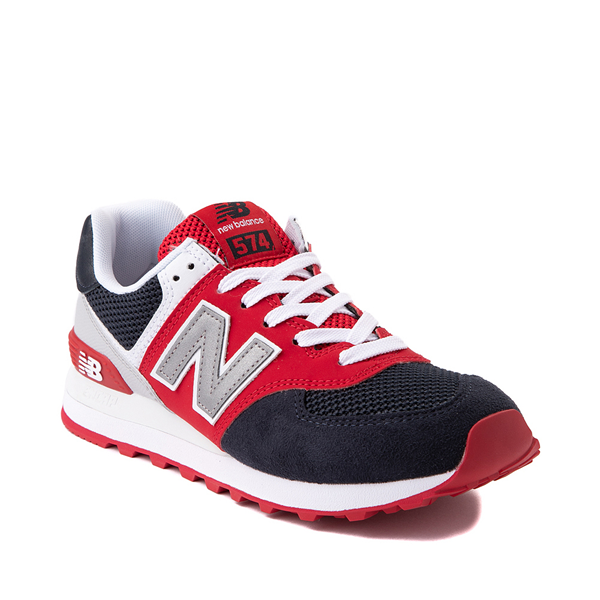 alternate view Womens New Balance 574 Athletic Shoe - Navy / Red / WhiteALT5