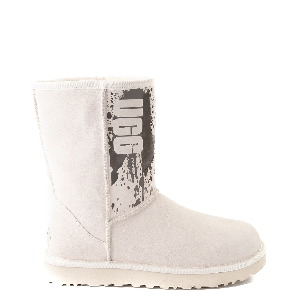 Womens UGG® Classic Short II Splatter Boot - Jasmine