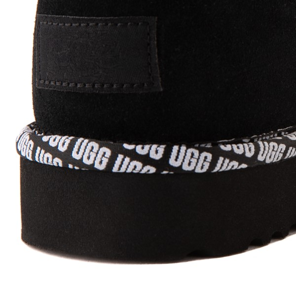 alternate view Womens UGG® Classic Short II Logo Trim Boot - BlackALT1B