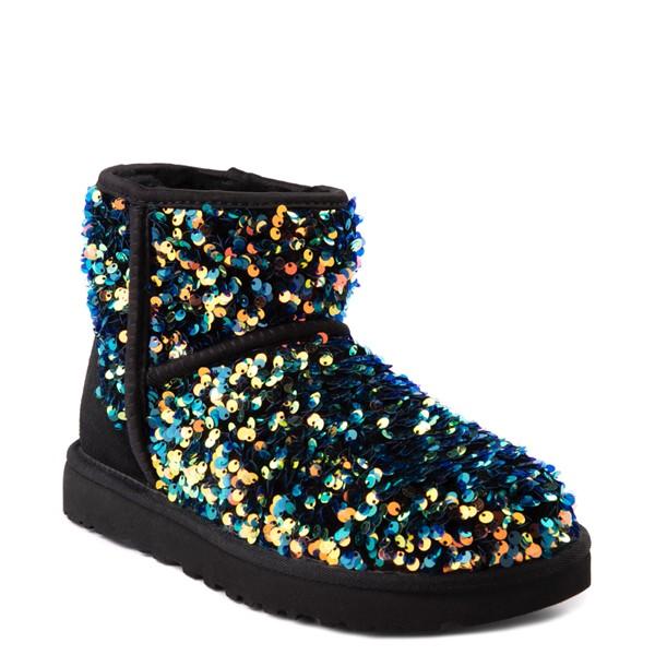 alternate view Womens UGG® Classic Mini Stellar Sequin Boot - BlackALT1