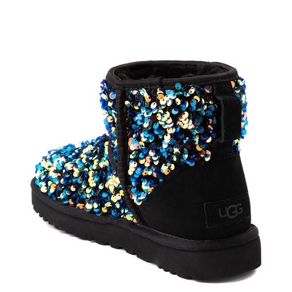 alternate view Womens UGG® Classic Mini Stellar Sequin Boot - BlackALT2
