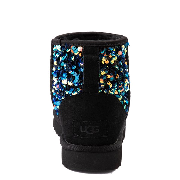alternate view Womens UGG® Classic Mini Stellar Sequin Boot - BlackALT2B