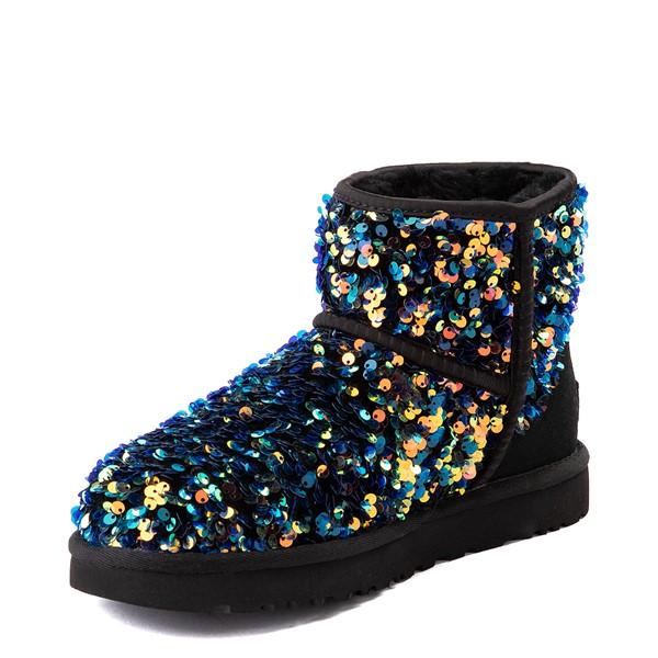 alternate view Womens UGG® Classic Mini Stellar Sequin Boot - BlackALT3