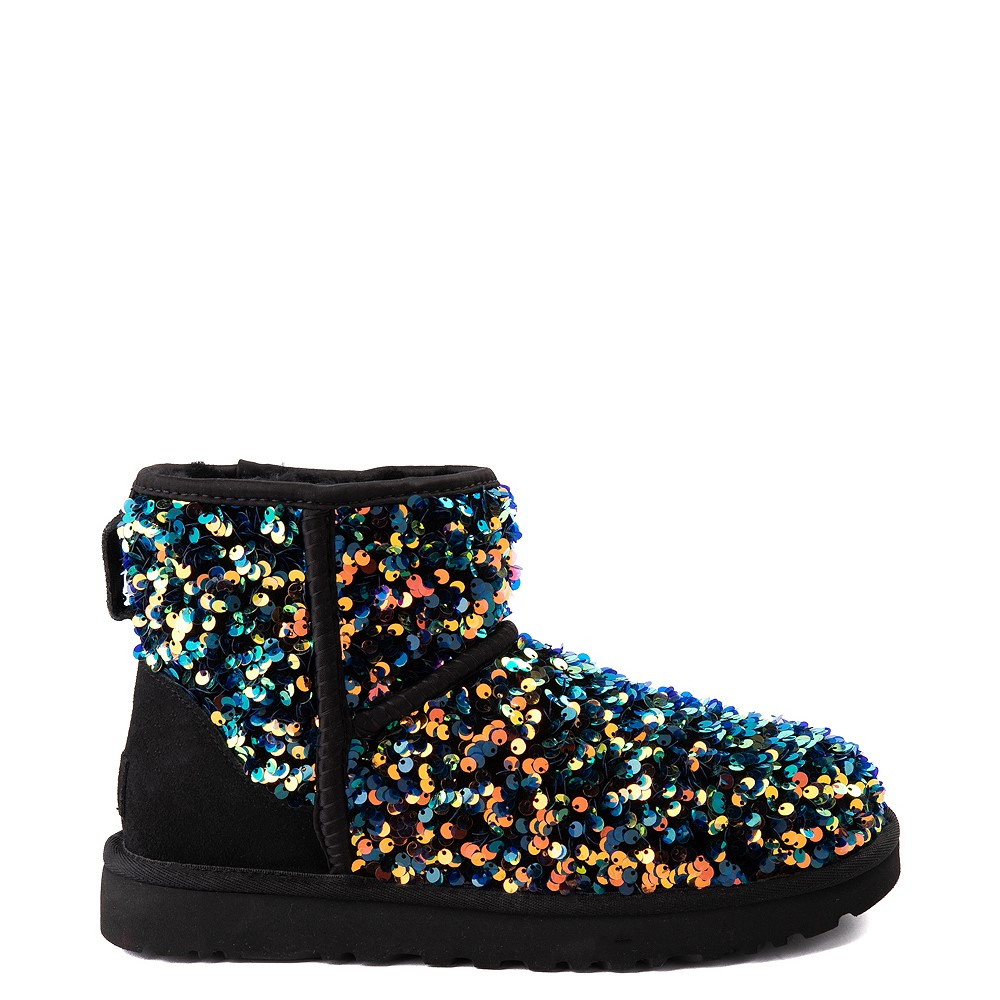Womens UGG® Classic Mini Stellar Sequin Boot - Black