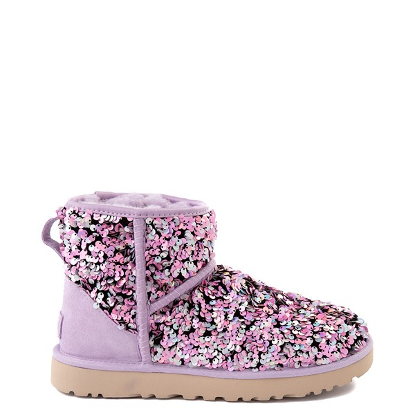 Main view of Womens UGG® classic Mini Stellar Sequin Boot - Lilac Frost