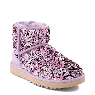 Alternate view of Womens UGG® classic Mini Stellar Sequin Boot - Lilac Frost
