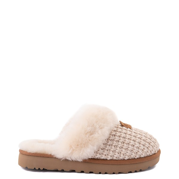 Main view of Womens UGG® Cozy Knit Slipper - Cream