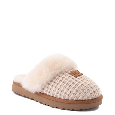 Alternate view of Womens UGG® Cozy Knit Slipper - Cream