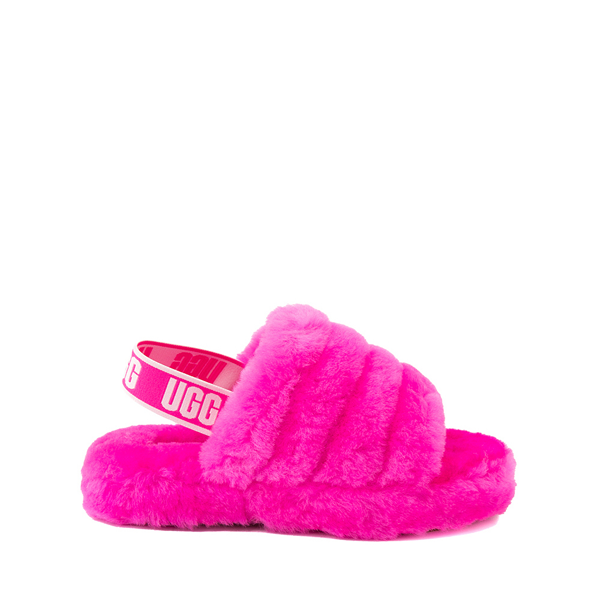 Main view of UGG® Fluff Yeah Slide Sandal - Little Kid / Big Kid - Rock Rose