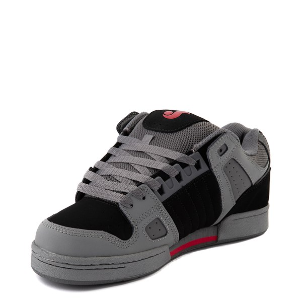 alternate view Mens DVS Celsius Skate Shoe - Charcoal / Black / RedALT3