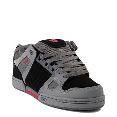 Alternate view of Mens DVS Celsius Skate Shoe - Charcoal / Black / Red