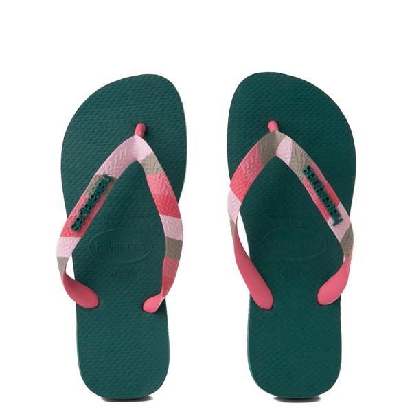 Womens Havaianas Top Verano Sandal - Green Leaf