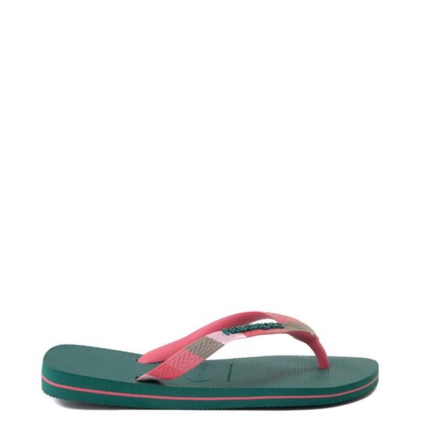 alternate view Womens Havaianas Top Verano Sandal - Green LeafALT1