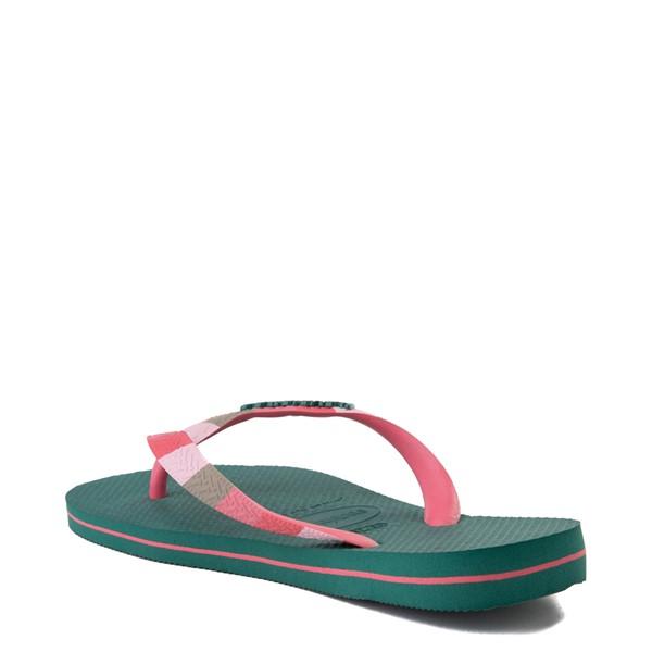 alternate view Womens Havaianas Top Verano Sandal - Green LeafALT1B