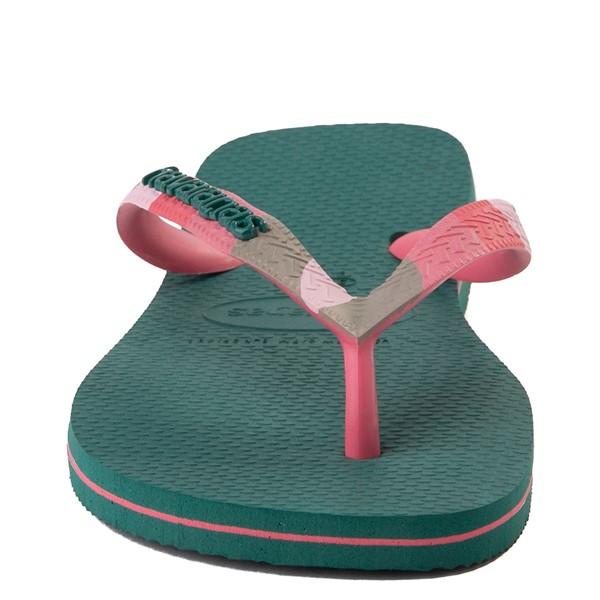 alternate view Womens Havaianas Top Verano Sandal - Green LeafALT4