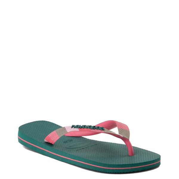 alternate view Womens Havaianas Top Verano Sandal - Green LeafALT5