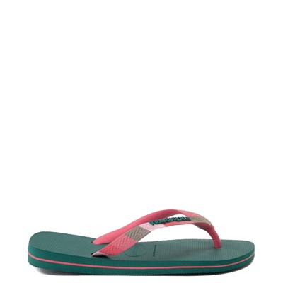 Alternate view of Womens Havaianas Top Verano Sandal - Green Leaf