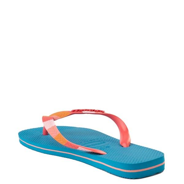 alternate view Womens Havaianas Top Verano Sandal - TurquoiseALT3