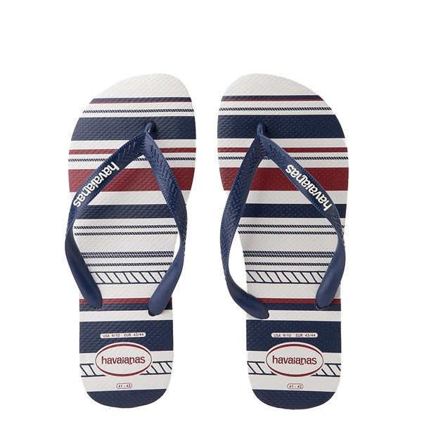 Mens Havaianas Top Nautical Sandal - White / Navy / Red
