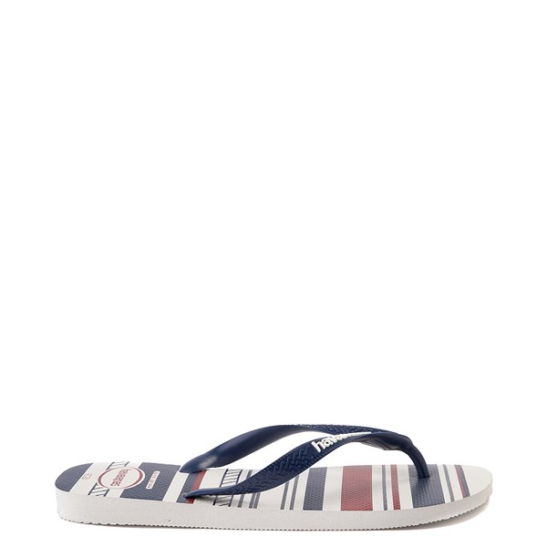 alternate view Mens Havaianas Top Nautical Sandal - White / Navy / RedALT1