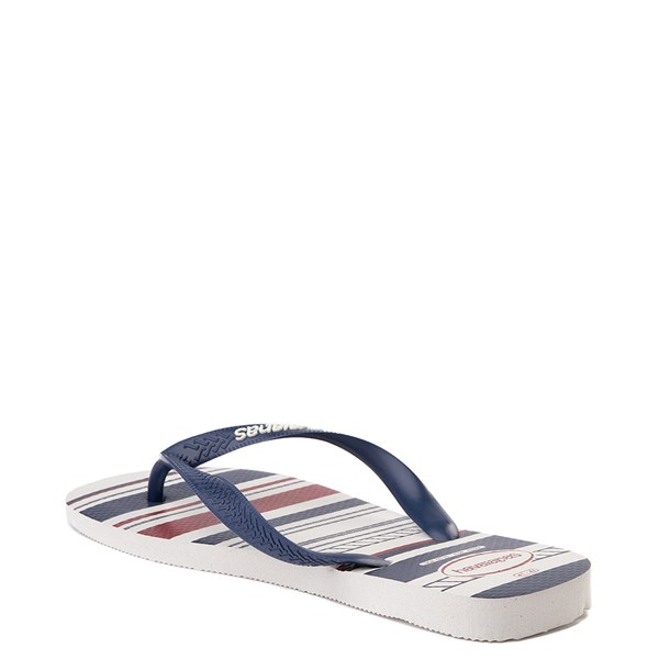 alternate view Mens Havaianas Top Nautical Sandal - White / Navy / RedALT3