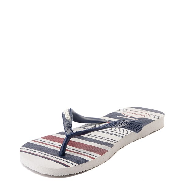alternate view Mens Havaianas Top Nautical Sandal - White / Navy / RedALT4