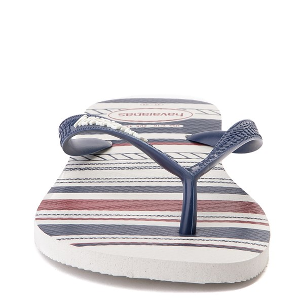 alternate view Mens Havaianas Top Nautical Sandal - White / Navy / RedALT5