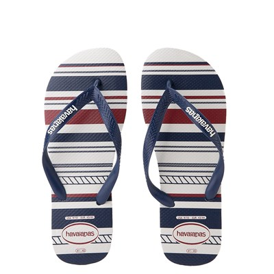Main view of Mens Havaianas Top Nautical Sandal - White / Navy / Red
