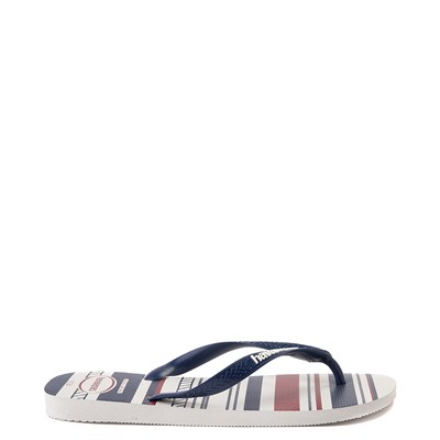 Alternate view of Mens Havaianas Top Nautical Sandal - White / Navy / Red