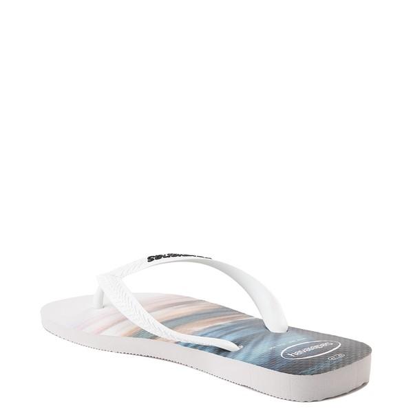 alternate view Mens Havaianas Hype Sandal - White / MulticolorALT1B