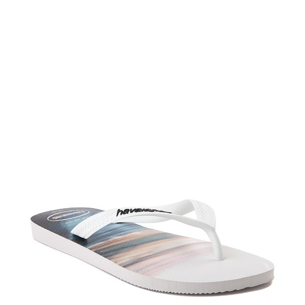 alternate view Mens Havaianas Hype Sandal - White / MultiALT2