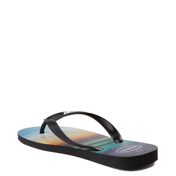 alternate view Mens Havaianas Hype Sandal - Black / MulticolorALT1B