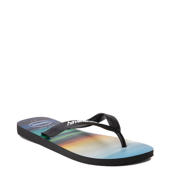 alternate view Mens Havaianas Hype Sandal - Black / MultiALT2