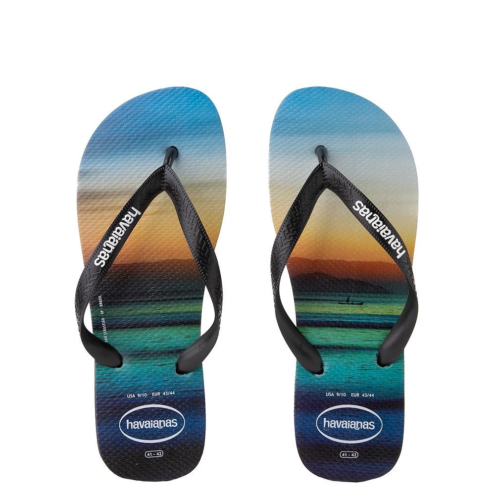 Mens Havaianas Hype Sandal - Black / Multi