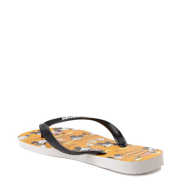 alternate view Havaianas Disney Stylish Mickey Mouse Sandal - Orange / BlackALT1B